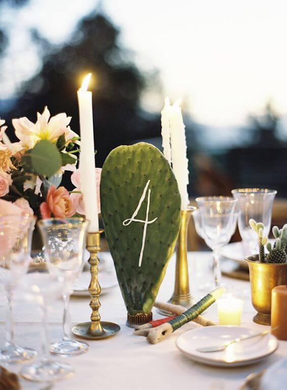 Stylish Table Number Ideas for your Cabo Wedding